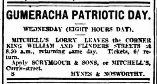 Advertising (1918, October 9). The Advertiser (Adelaide, SA : 1889 - 1931), p. 2. Retrieved August 21, 2016, from http://nla.gov.au/nla.news-article5597340
