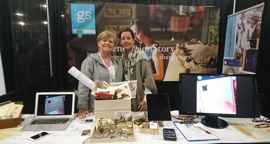 Kathy and Shannon from GenerationStory, my neighbours in the Expo Hall