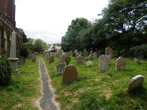 Kenton All Saint's churchyard, Devon