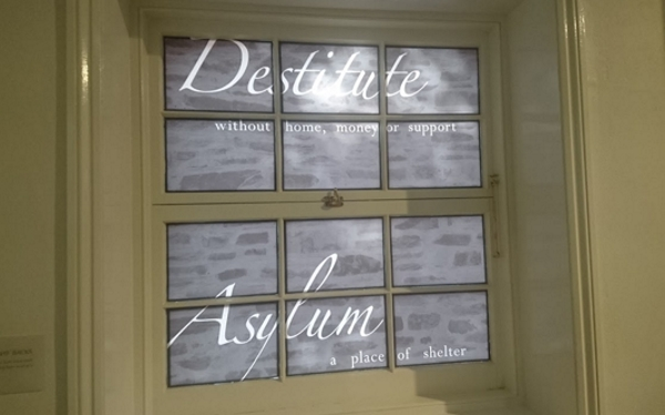 written on the window ion the old Lying-In Hospital