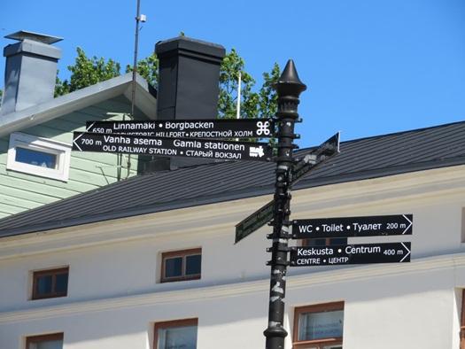 sign post at Porvoo