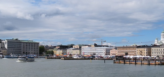view of Helsinki from the ferry