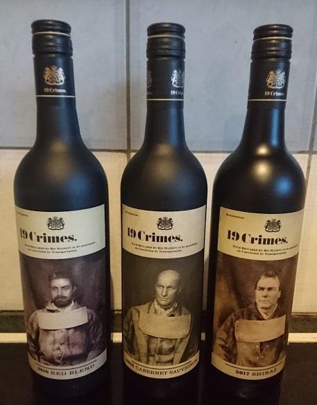 19 Crimes Australian bottles
