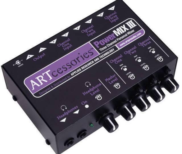 Art Pro Audio 3 Channel Stereo Mini Mixer Long Mcquade Musical Instruments
