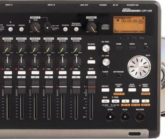 Tascam Compact 8 Track Sd Recorder W Cd Burner Fx Long Mcquade Musical Instruments