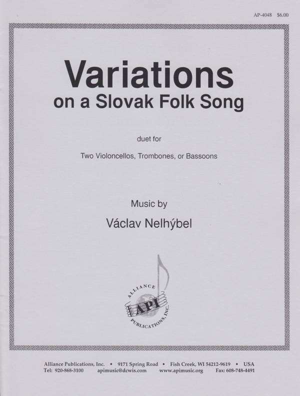 Alliance Publications Variations On A Slovak Folk Song