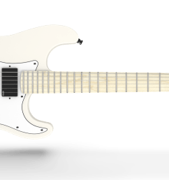 fender jim root signature stratocaster maple fingerboard flat white [ 2350 x 970 Pixel ]