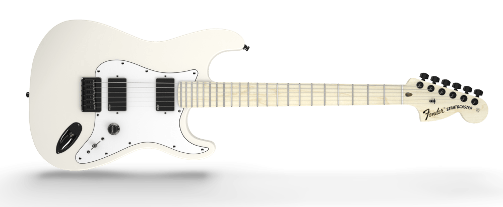 medium resolution of fender jim root signature stratocaster maple fingerboard flat white