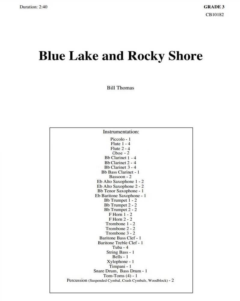 Eighth Note Publications Blue Lake And Rocky Shore