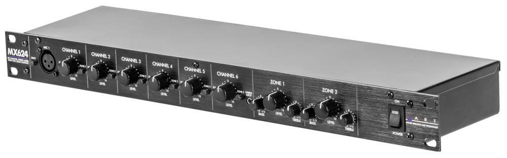 https www long mcquade com 66257 pro audio recording mixers art pro audio mx624 6 channel rackmount zone mixer htm