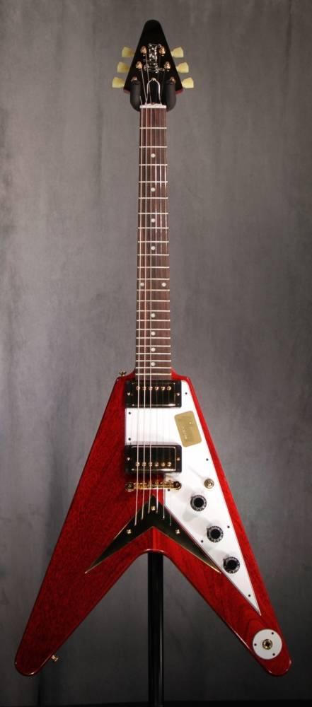 Gibson 1959 Flying V Reissue Ltd In Wine Red  Long