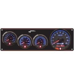 3 gauge aluminum panel with accutech smi gauges tach op wt [ 1000 x 1000 Pixel ]