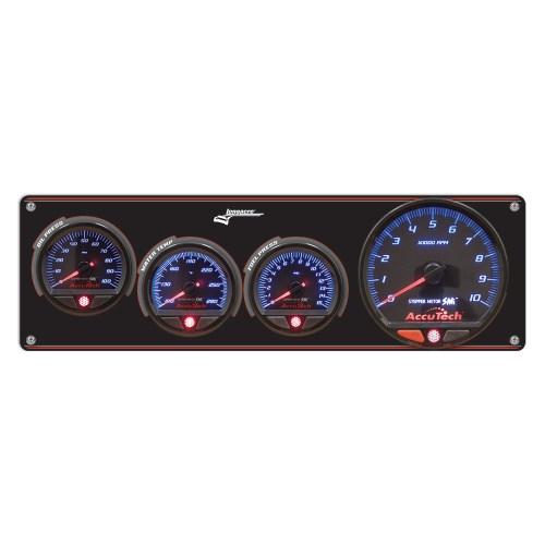 small resolution of 3 gauge aluminum panel with accutech smi gauges tach op wt