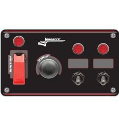 flip up start ignition panel w 2 acc pilot lights [ 1000 x 1000 Pixel ]