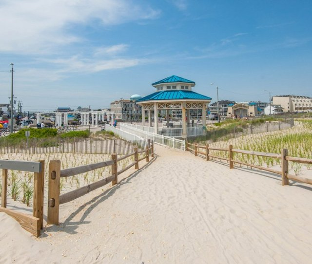 Gazebo On Beach In Sea Isle City Nj