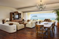 Dreams Huatulco Resort & Spa - Accommodations - The Preferred Club Presidential Suite's spacious main area spoils guests with a spacious living area, a dining room table and beautiful ocean front views