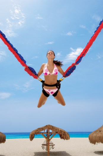 Dreams Los Cabos Suites Golf Resort & Spa - Activities - Kids can enjoy the Euro-Bungee at the Explorer's Club