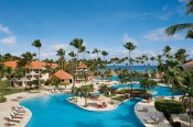 Dreams Palm Beach Punta Cana - Grounds - The main pool at Dreams Palm Beach provides chaise lounges for relaxing and viewing the stunning Caribbean Sea