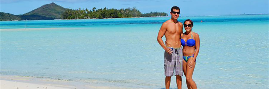Angie & Mike - Honeymoon - Beach - Bora Bora 2012 - Featured Image