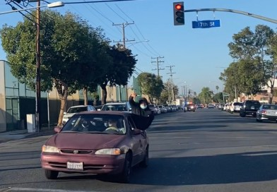 Long Beach Police Chase Robbery Suspect Vehicle in Long Beach