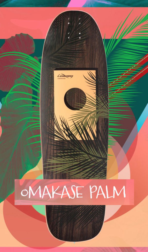 Loaded Boards Omakase Palm GripnRip Longboard Komplet