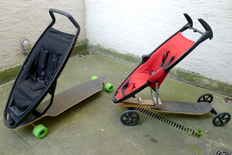 Longboard Stroller  An urban mobility concept with an eye