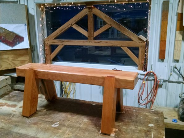 Timber Frame Furniture: Browny Bench