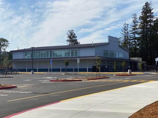 exterior shot of River School