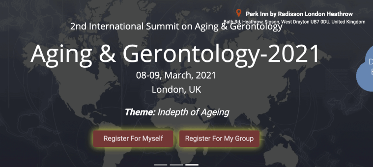 aging and gerontology conference