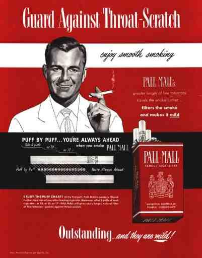 Health nuts love Pall Malls