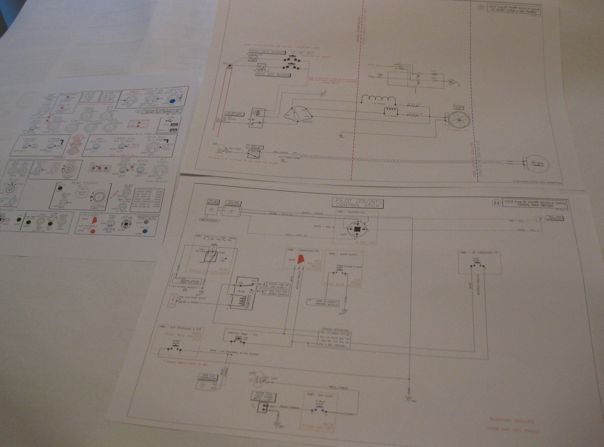 hight resolution of updated new wiring diagrams a long ez push long ez wiring diagram