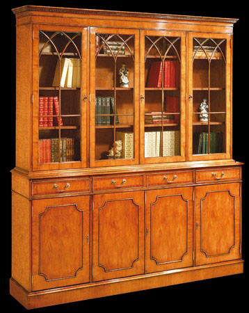 Bibliothque Anglaise 4 Portes 4 Tiroirs LongField 1880