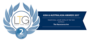 Luxury Travel Guide's Traditional Hotel Australia award - The Racecourse Inn, Longford