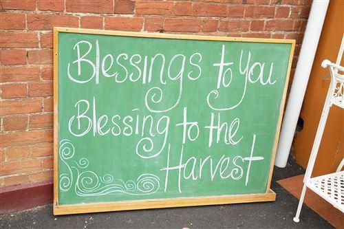 Longford Harvest Festival - Blessing of the Harvest