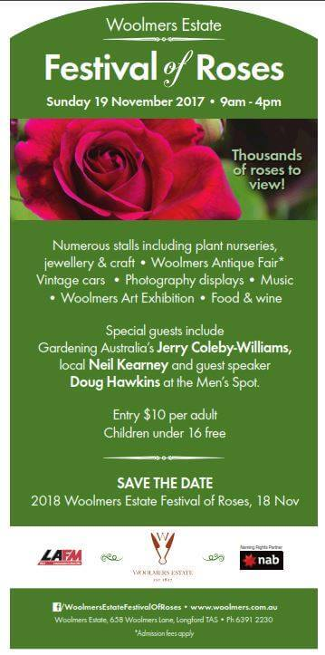 Flyer for Woolmers Festival of Roses 2017