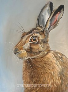 Hare painting by Annabelle Sandes