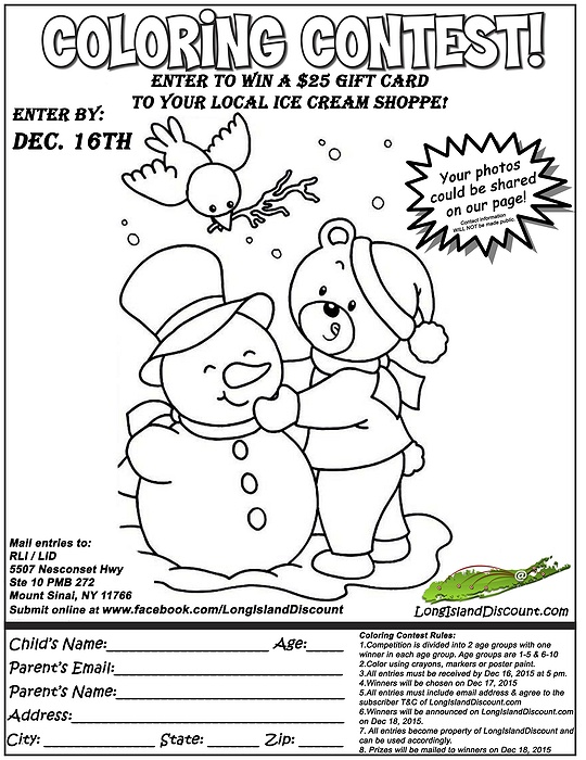 Winter Coloring Contest