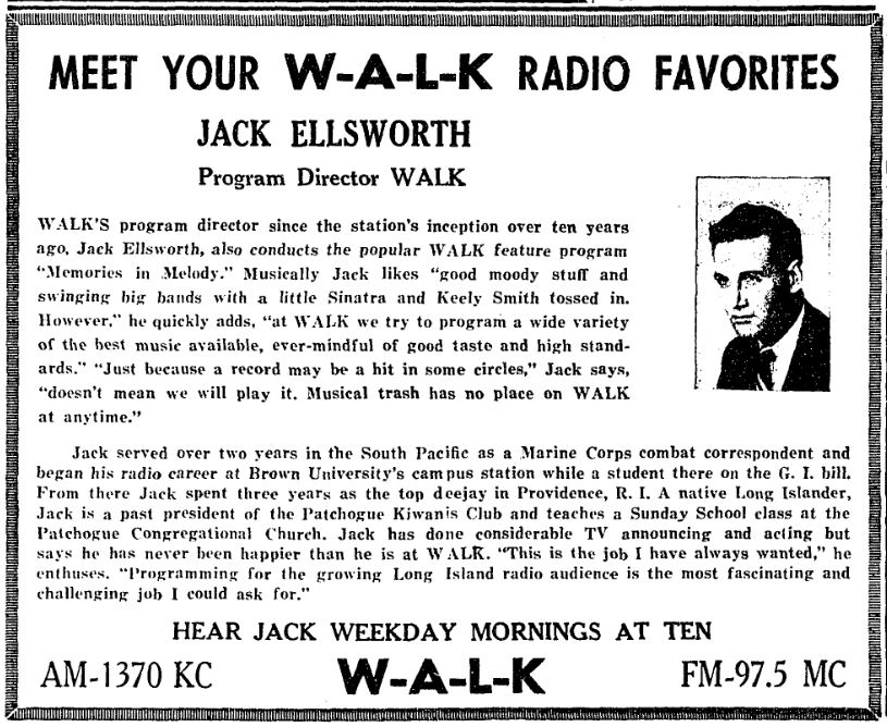 Jack Ellsworth, Long Island's Big Band Man