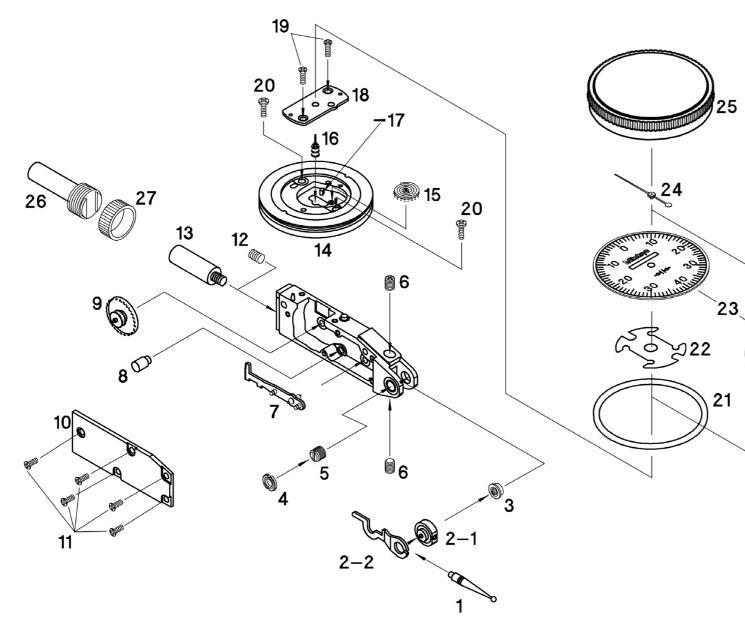 162 : Mitutoyo Test Indicator Spare Parts