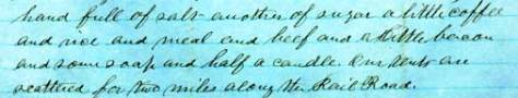Excerpt of a letter, showing Milo Grow's handwriting.