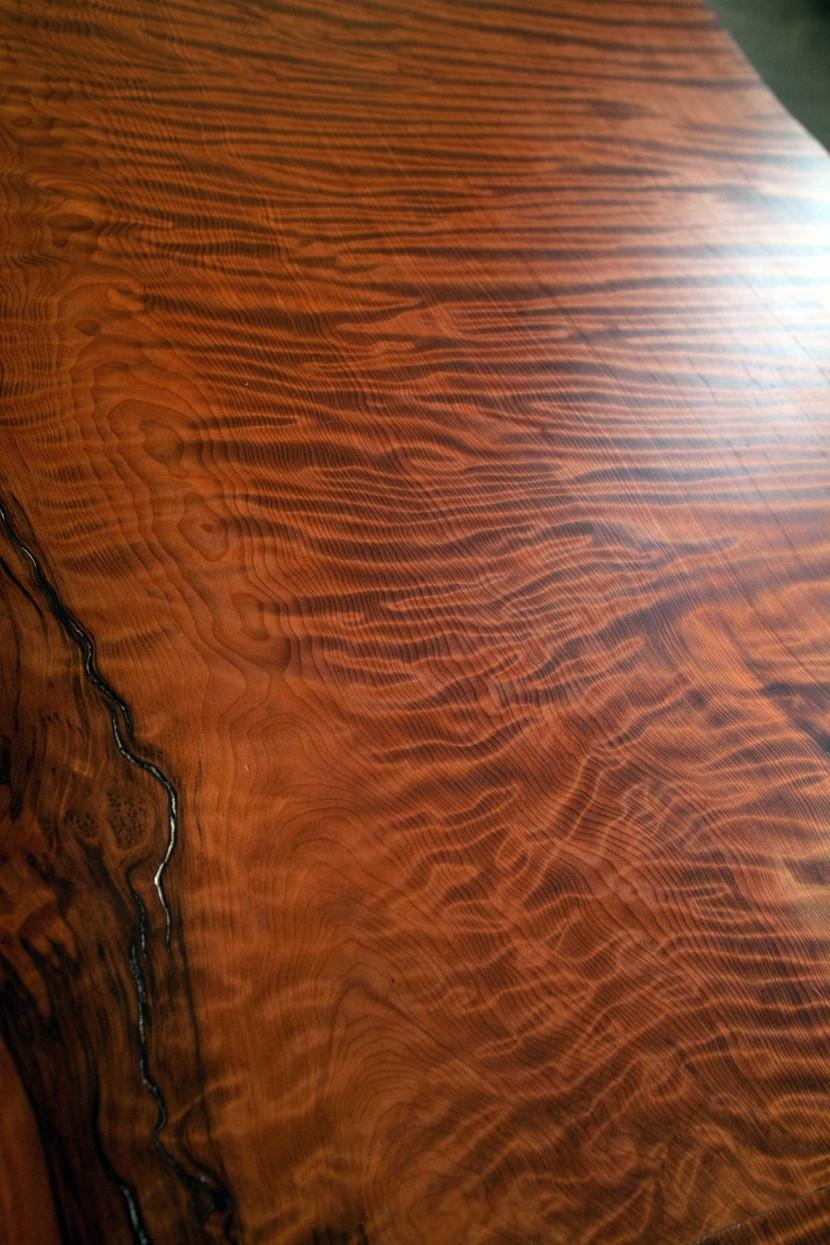Longleaf Lumber  Salvaged Redwood Table w White Oak