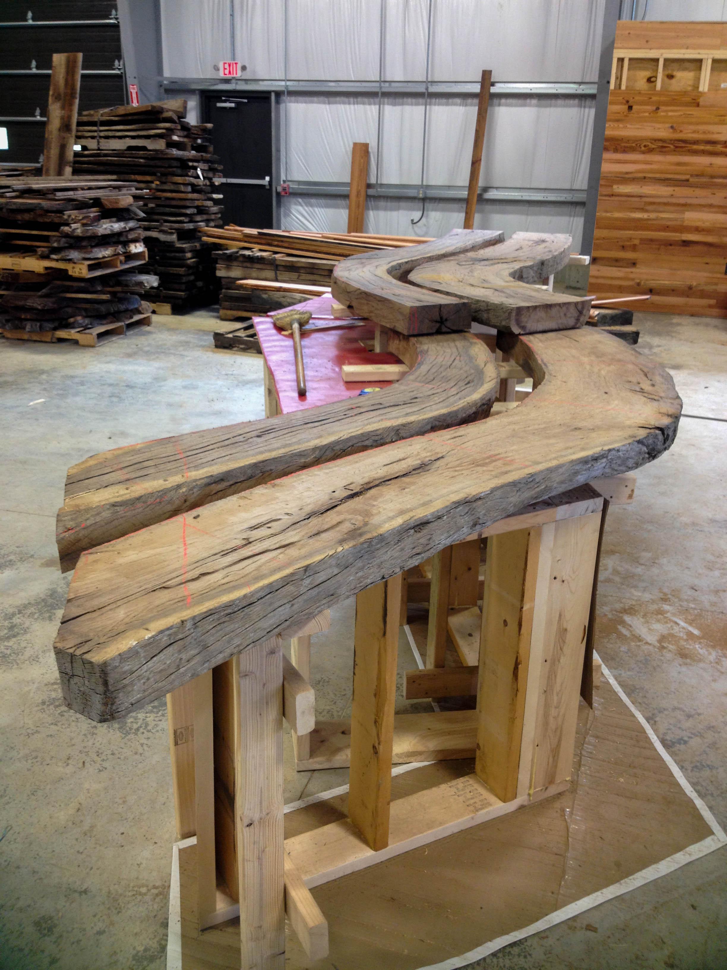 Longleaf Lumber  Reclaimed Live Oak Bar Top