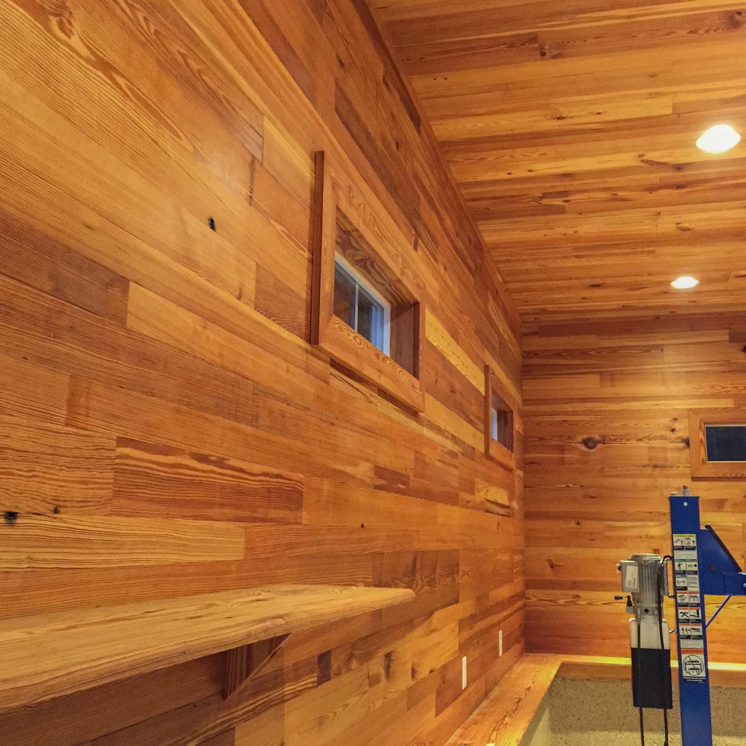 Longleaf Lumber  Reclaimed Heart Pine Chestnut Paneling