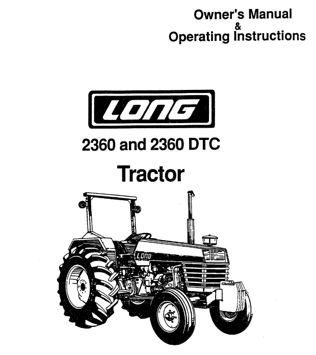 Operator's Manual for Long 2360 Tractor (LONG-OP-2360