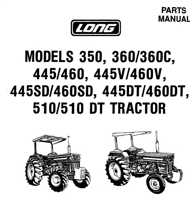 Parts Manual for Long Tractor (LONG-SRV-3CYLOLD