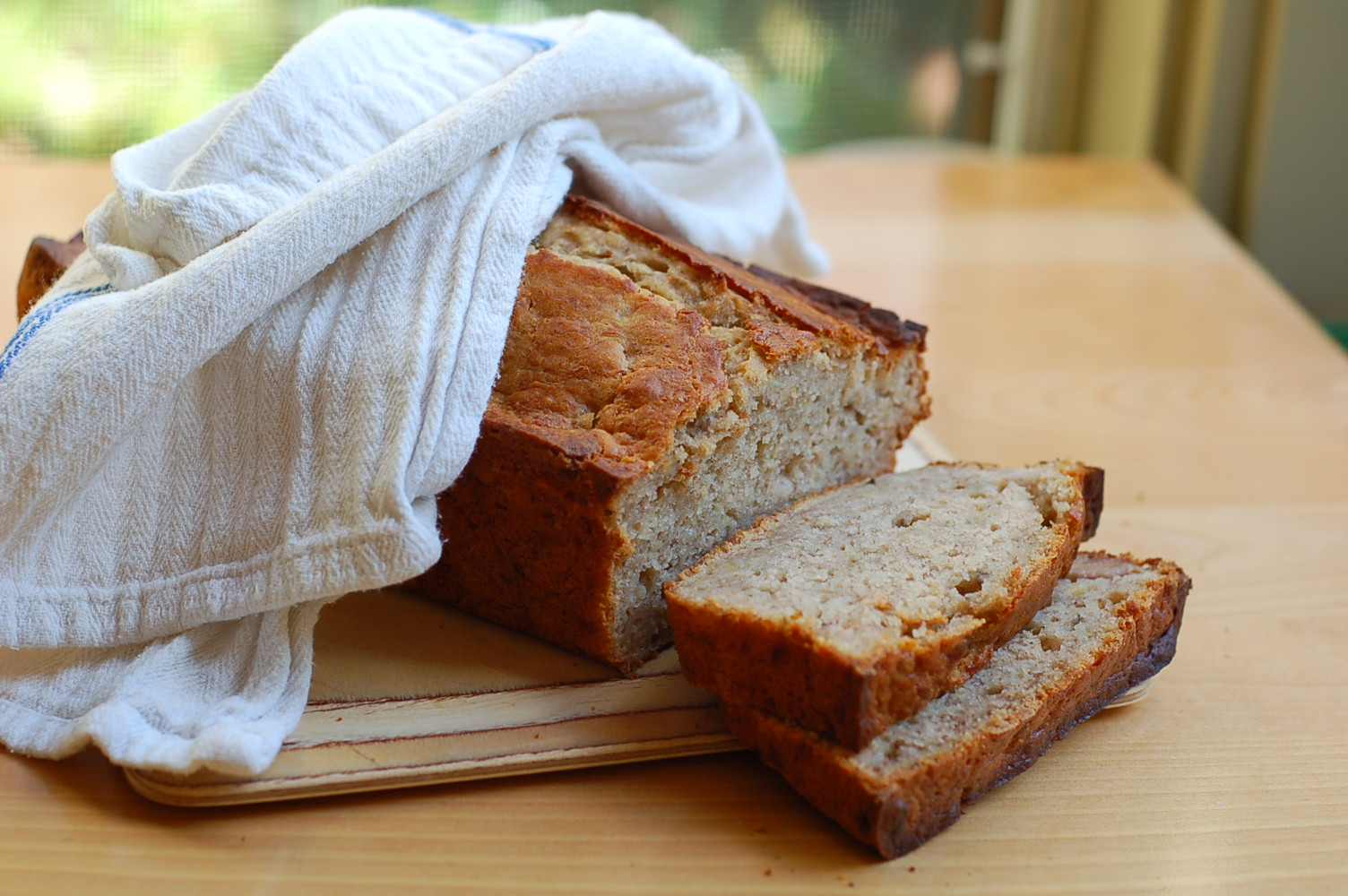 Using your starter: sourdough banana bread