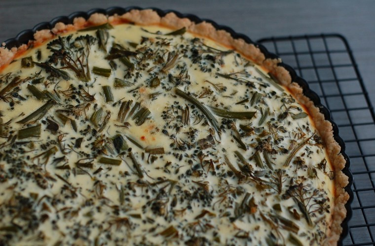 Using your starter: no-roll sourdough pie crust + a quiche formula for an easy make-ahead dinner