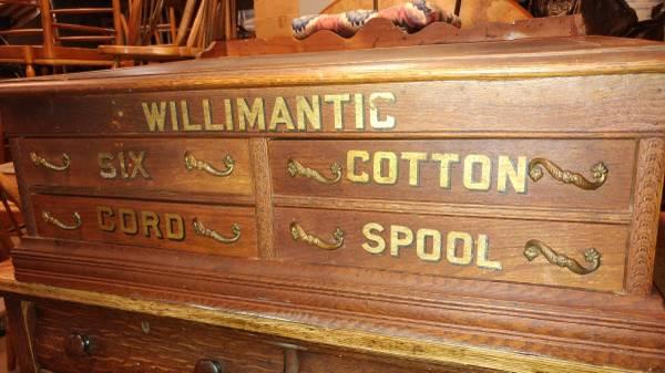 Vintage Spool Cabinet