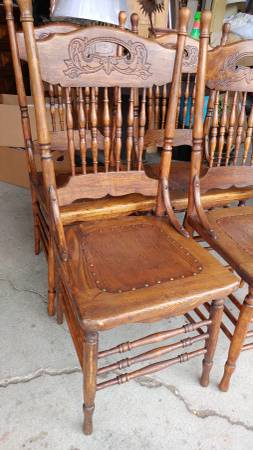 antique oak dining chairs oversized zero gravity chair with canopy 4 primitive carved leather seats 00y0y 1m0deznvsr8 600x450