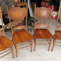 Vintage Wooden Dining Chairs Recliner Sofa 4 Oak Press Back Strong And Sturdy Long 00x0x Euqbhtj4xg 600x450